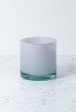 """Henry Dean Handblown Cylinder Vessel - Rosebud Lavender Pink - 6"""""""