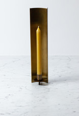 """Brass Channel Slim Candle Sconce - 14.5"""""""