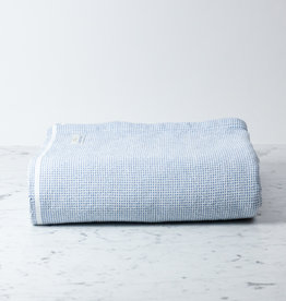 Brahms Mount Thorndike Cotton Blanket - Queen - Denim - 90 x 90""
