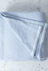 """Brahms Mount Thorndike Cotton Blanket - Queen - Denim - 90 x 90"""""""