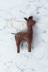Craftspring Hand Felted Gentle Spotted Deer Fawn Ornament - Brown