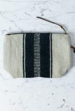 "Libeco Home Belgian Linen + Wool Zipper Pouch - Wide Ladder Stripe - 9 x 6"""