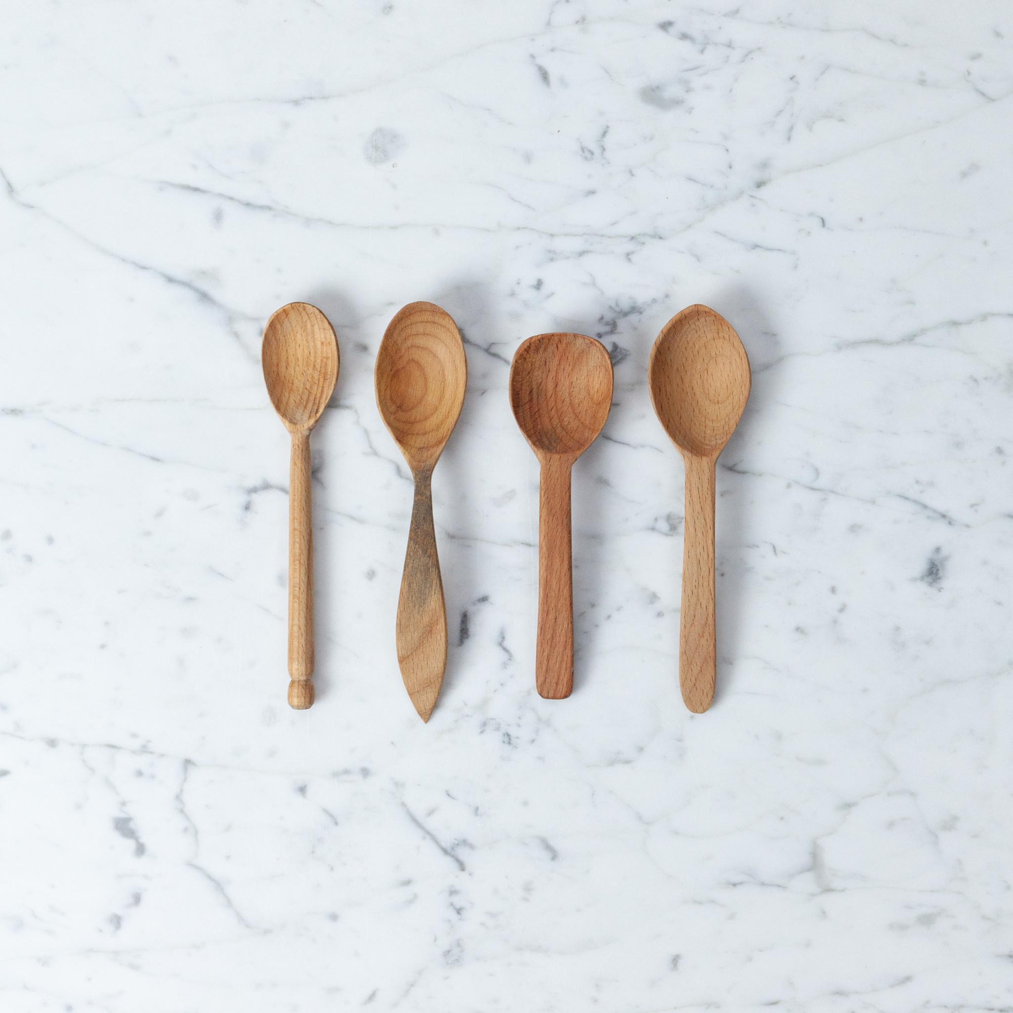 "Assorted Beechwood Spoons - Individual - Small - 6-7"""