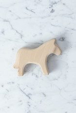 Ostheimer Toys Natural Plain Wood Horse Toy