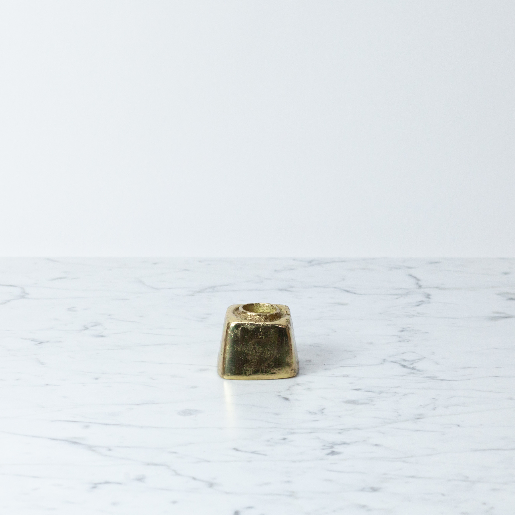 Solid Sand Cast Brass Taper Holder Cube