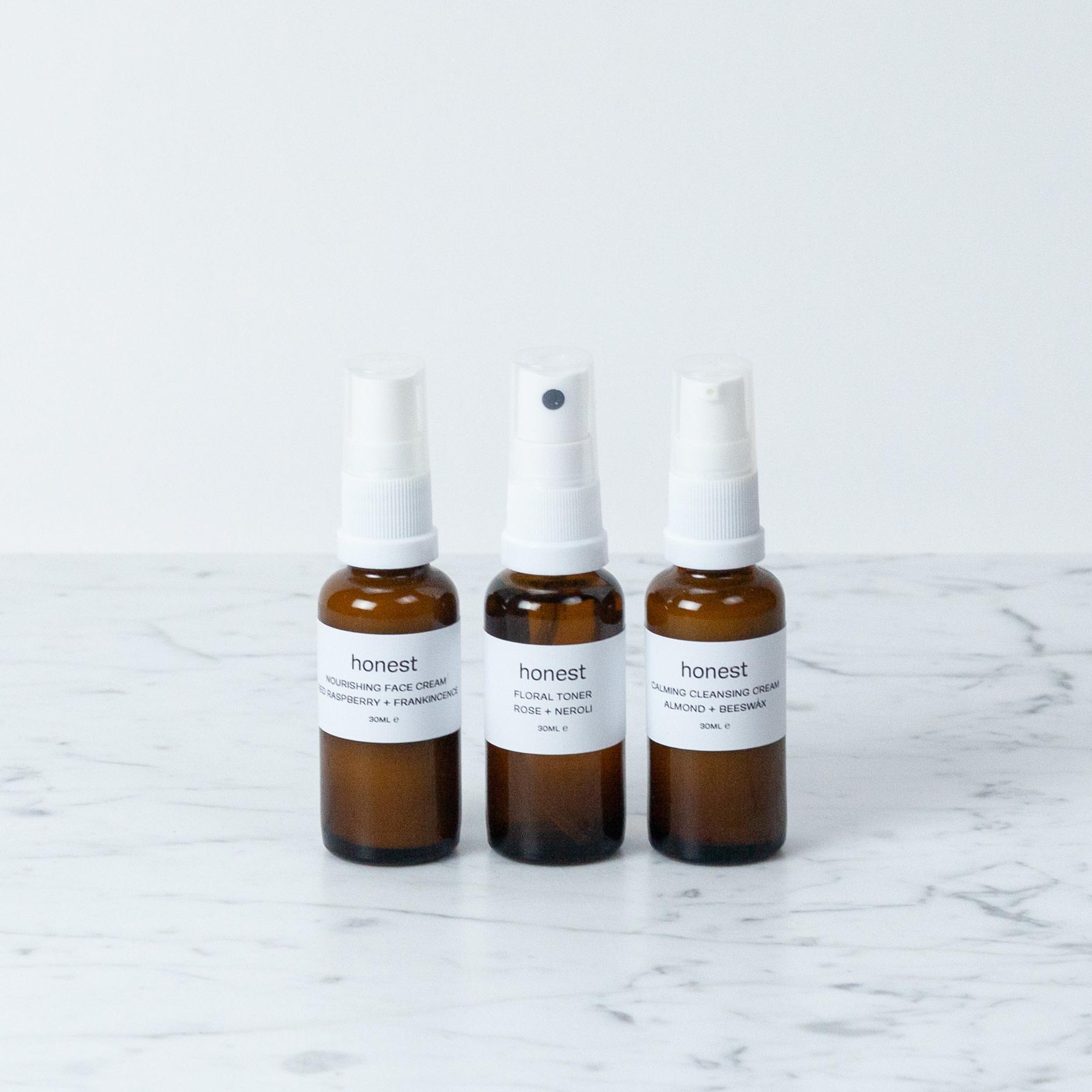 Honest Mini Face Ritual Set - Nourishing - 30 ml each