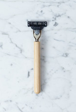 Shaving Razor with Beech Handle