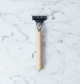 Shaving Razor with Beech Handle
