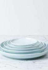"""MIZU MIZU mizu-mizu Round Porcelain Salad Plate - Bluish White - 8"""""""
