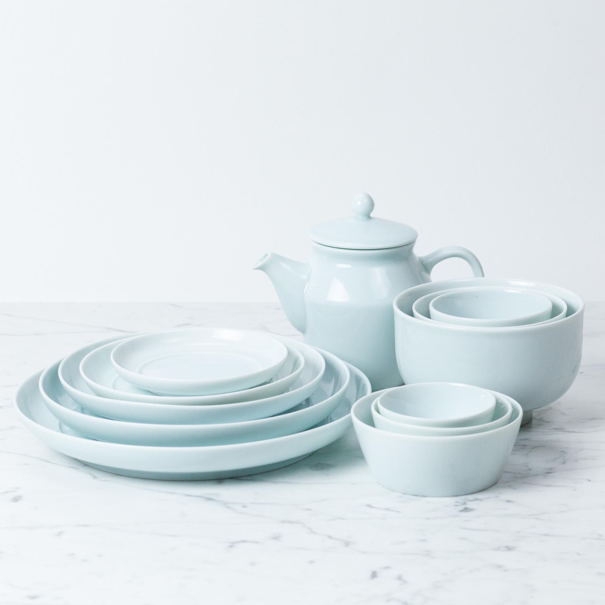 """MIZU MIZU mizu-mizu Round Porcelain Dish - Bluish White - Tiny - 4.75"""""""
