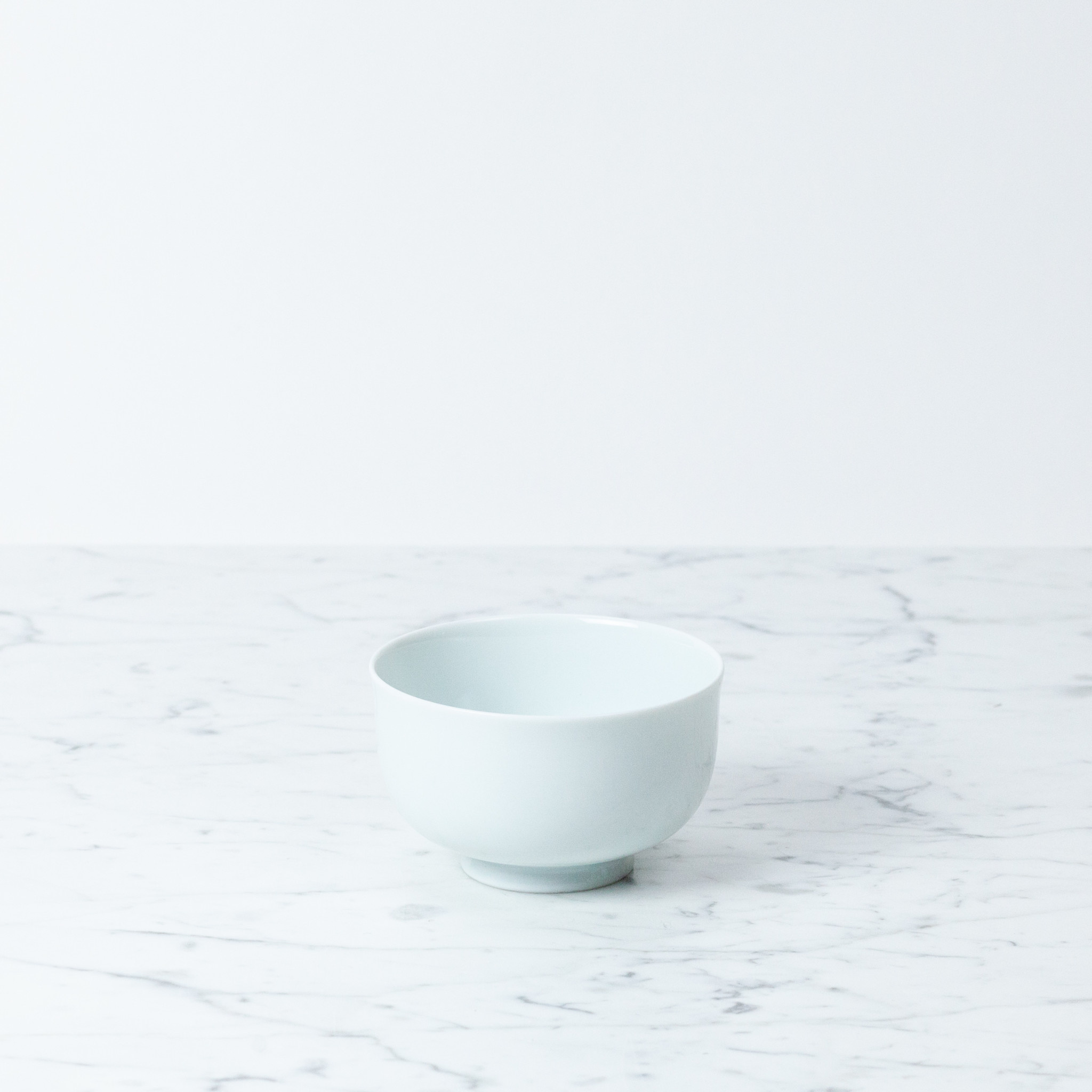 MIZU MIZU mizu-mizu Curved Bowl with Foot - Bluish White - Small - 4""