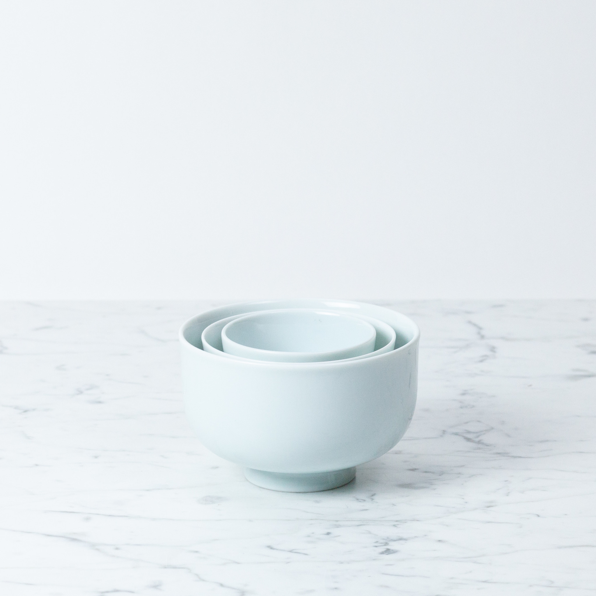 MIZU MIZU mizu-mizu Porcelain Cup with Foot - Bluish White - 3.25""