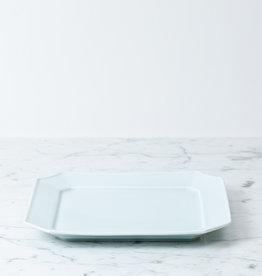 "MIZU MIZU PREORDER mizu-mizu Square Porcelain Dish - Bluish White - 9.5"""