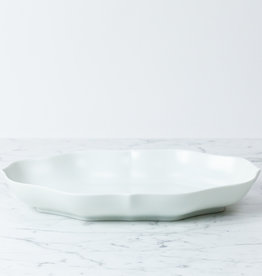 PREORDER mizu-mizu Long Porcelain Flower Bowl - Matte Finish - Bluish White - 13""