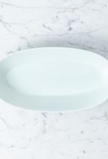 """MIZU MIZU mizu-mizu Oval Porcelain Bowl - Bluish White - 11"""""""