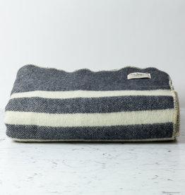 """MacAusland Wool Queen Size Blanket - Black Tweed - 78 x 104"""""""