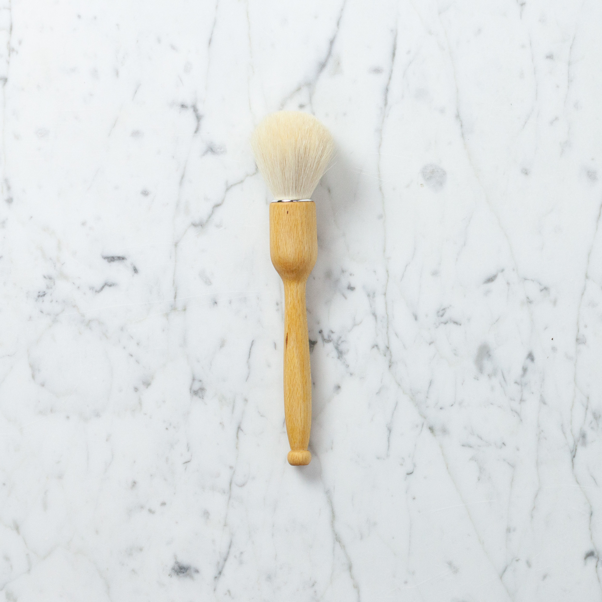 Gentle White Goat Hair Dust Brush - 8.5""