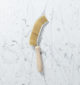 Slim Long Bristle Edge Brush with Beechwood Handle