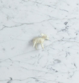 Natural Felted Wool Lamb - White