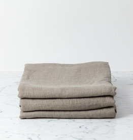 Light Washed French Linen Waffle Bath Towel - Mouse Back Grey - 40 x 62""
