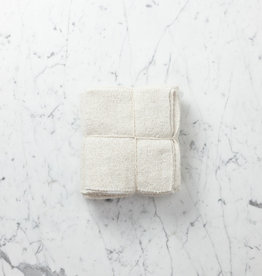 Simple Rustic Cotton Towel - Natural White - Set of 3