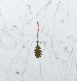 Brass Ornament - Oak Leaf