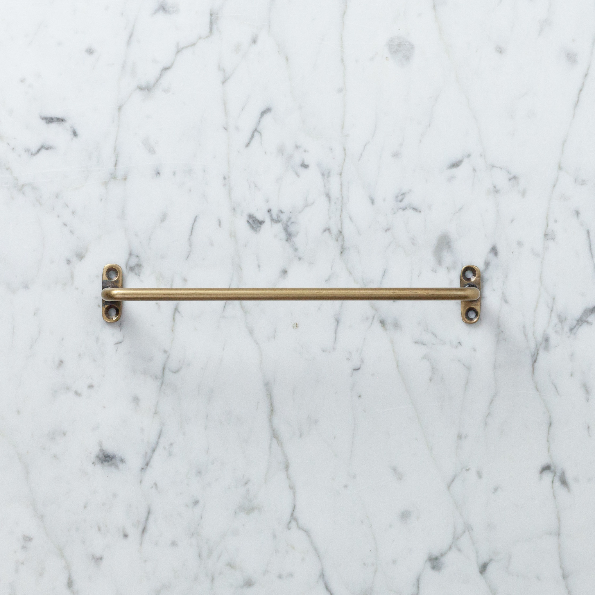 Small Brass Towel Bar - 7.75""