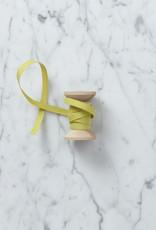 Italian Cotton Ribbon - Chartreuse - 1/4 in WIdth - Sold Per Yard