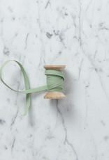 Italian Cotton Ribbon - Sage - 1/4 in Width - Sold Per Yard
