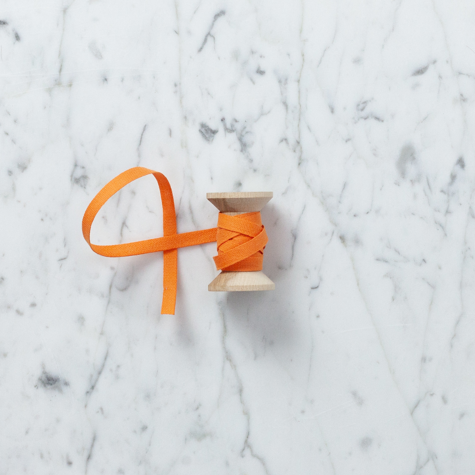 Italian Cotton Ribbon - Melon - 1/4 in Width - Sold Per Yard