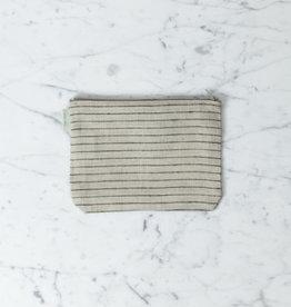 "Linen Pouch - Stanley Stripe - 5 x 7"""