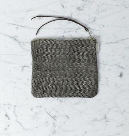 "Linen Pouch - Medium - Herringbone - 6 x 7"""