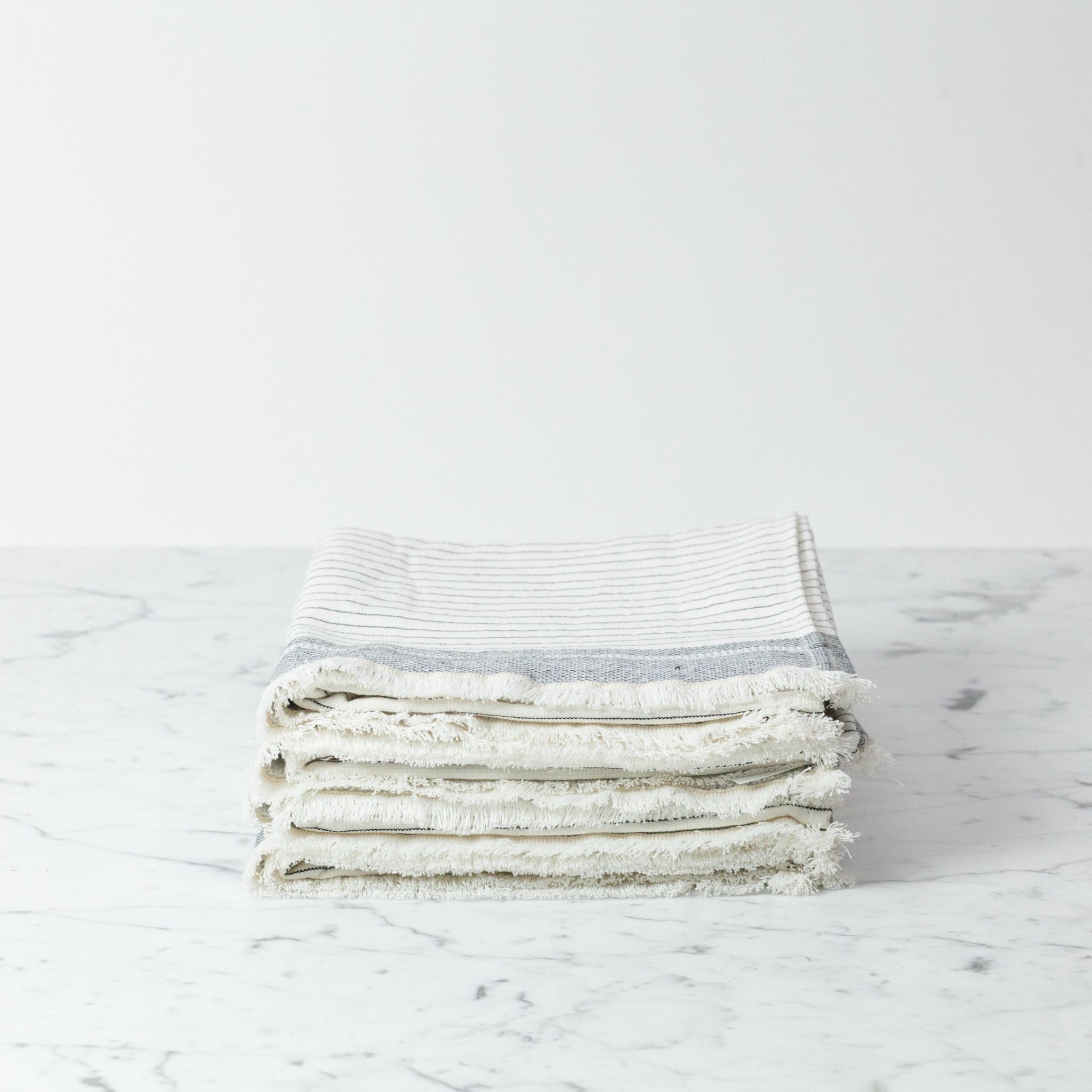 "Serina Turkish Terry Hand Towel - Off White Stripe - 18 x 36"""