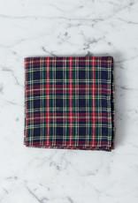 Linen Handkerchief - Jane Red + Navy + Green Plaid