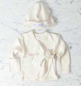 Japanese Organic Cotton Baby Cap + Cardigan