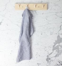 Linen Kitchen Cloth - White Seersucker