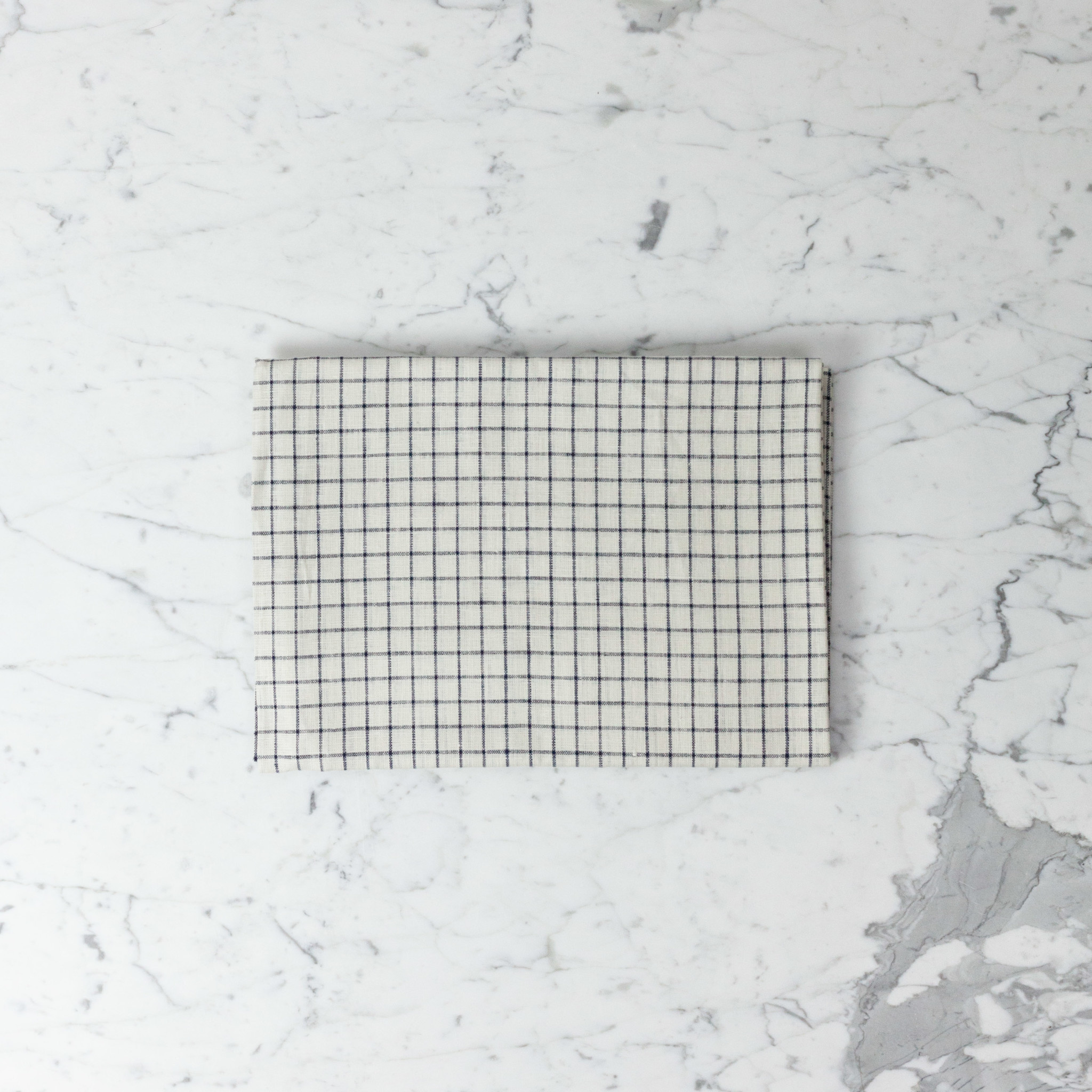 "Lithuanian Linen Tablecloth - Small - Jenn Check - 50 x 50"""