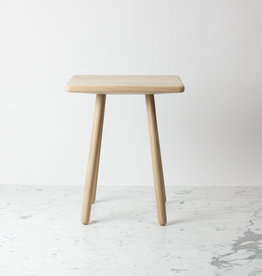 Skagerak Georg Side Table - Untreated Oak - 17 x 14 x 12.5""