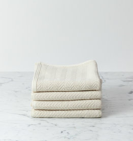 Herringbone Cotton Hand Towel - Medium - Cream