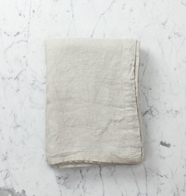 Linen Washed Waffle Table Cloth or Throw - Natural
