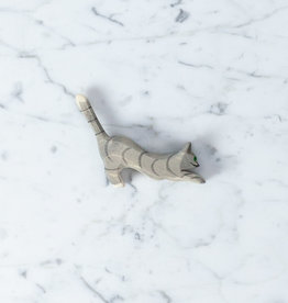 Ostheimer Toys Striped Cat Gray Jumping