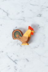 Ostheimer Toys Rooster Brown with Colorful Tail