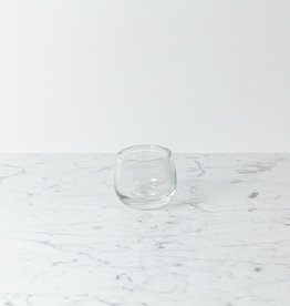 "Henry Dean Tiny Clovis Vessel - Clear Glass - 3 1/2"""