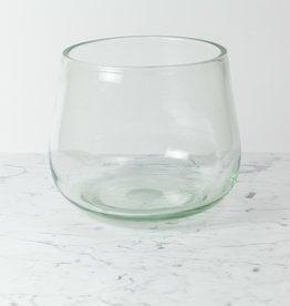 """Henry Dean Large Clovis Vessel - Clear Glass - 10"""""""