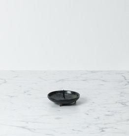 DAIYO Delicate Ceramic Candle Holder Mame - Black - Fits Nanohana Candles