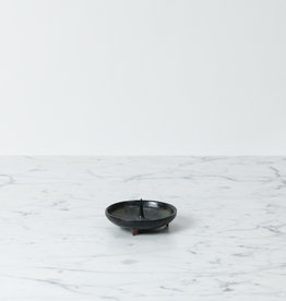 Delicate Ceramic Candle Holder Mame - Black