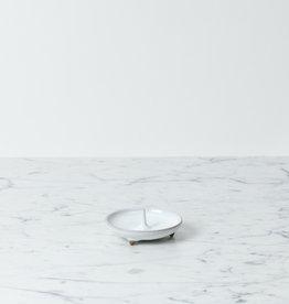 DAIYO Delicate Ceramic Candle Holder Mame - White- Fits Nanohana Candles
