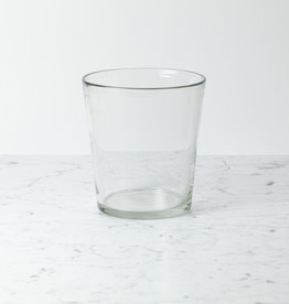 Henry Dean Belgian Handblown Tapered Elizabeth Vase - Clear Glass - 9.5""