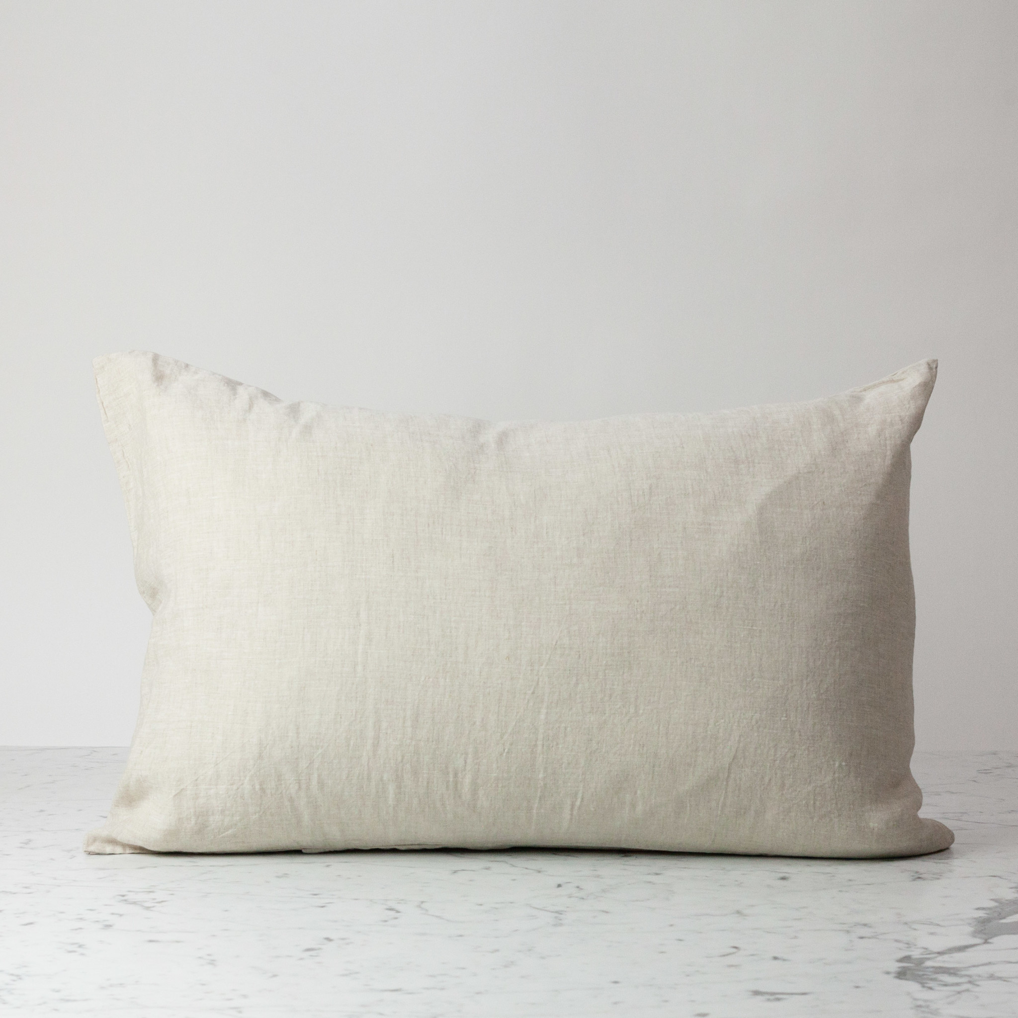 Standard or Queen - Natural - Linen Pillowcase with Envelope Closure