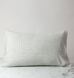 Standard or Queen - Pinstripe - Linen Pillowcase with Envelope Closure